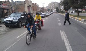 My arrival in Diyarbakir, 'escorted' by Rezul, from the  local bike club.